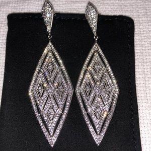 Saks Fifth Ave Chandelier Crystal Earrings